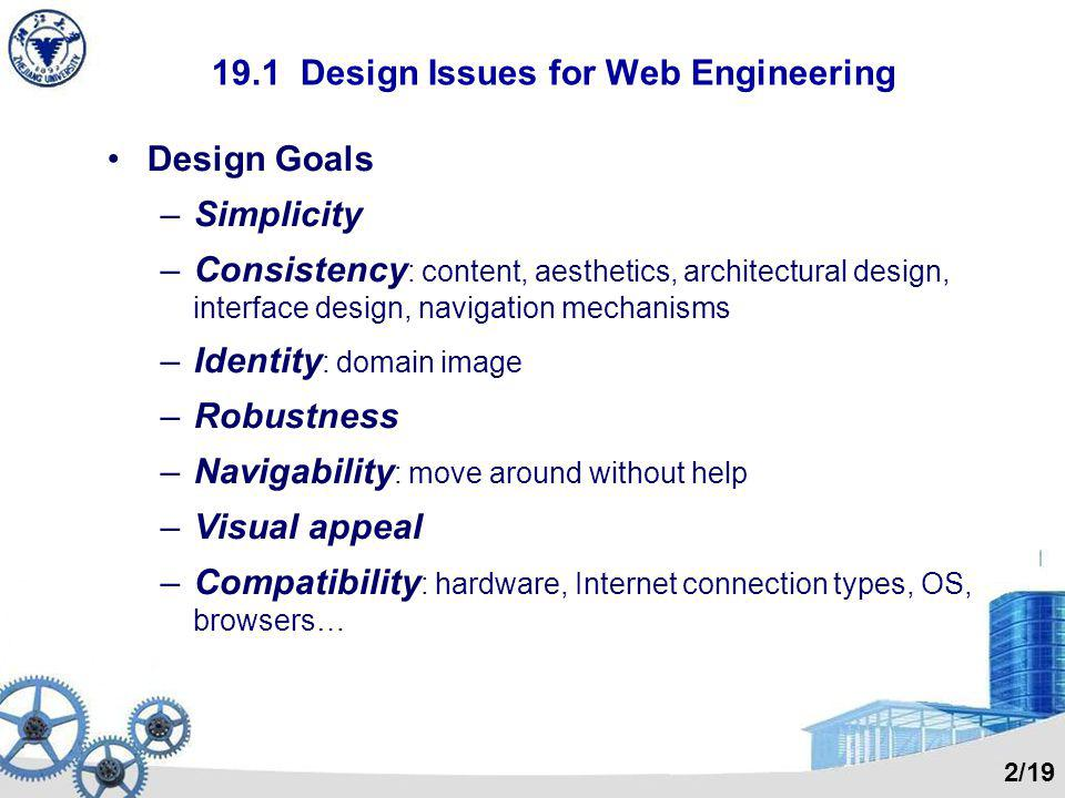 19.1 Design Issues for Web Engineering
