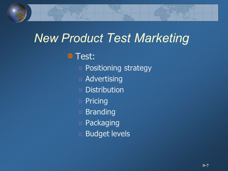 New Product Test Marketing