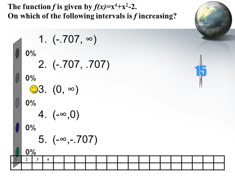 The function f is given by f(x)=x4+x2-2