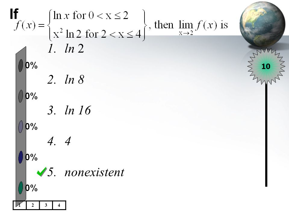 If ln 2 ln 8 ln 16 4 nonexistent 10 1 2 3 4