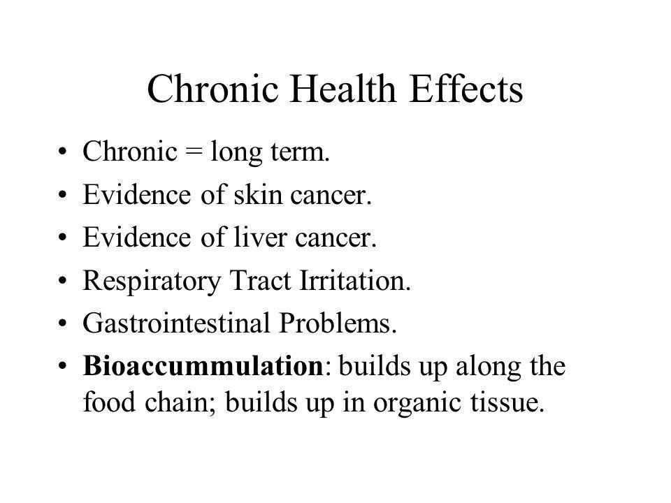 Chronic Health Effects