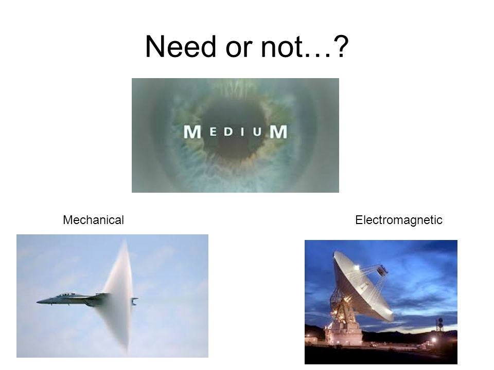 Need or not… Mechanical Electromagnetic