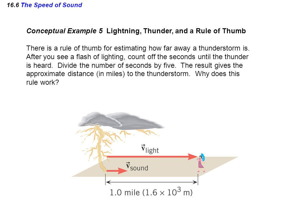 Conceptual Example 5 Lightning, Thunder, and a Rule of Thumb