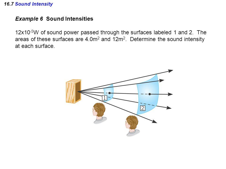 Example 6 Sound Intensities