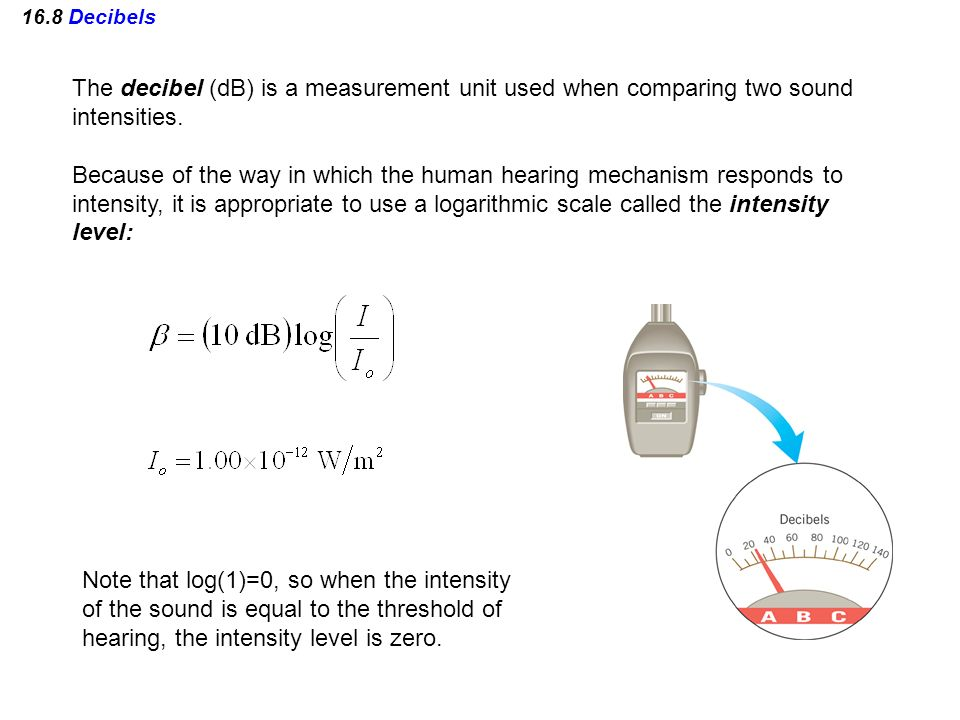 The decibel (dB) is a measurement unit used when comparing two sound