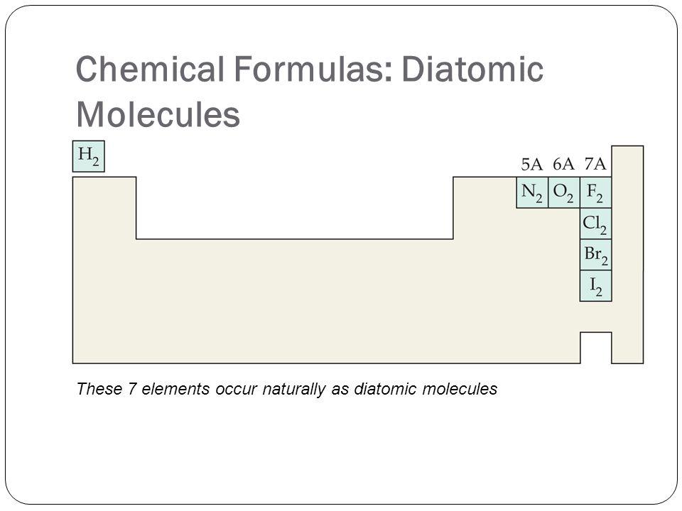 Chemical Formulas: Diatomic Molecules