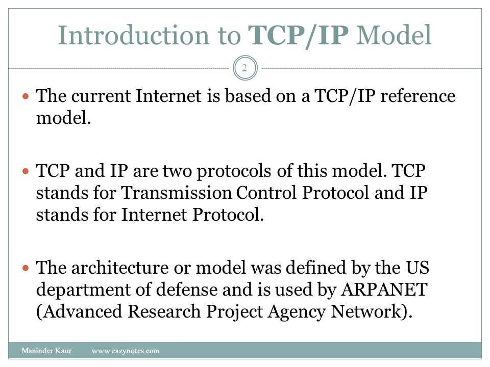 Introduction to TCP/IP Model