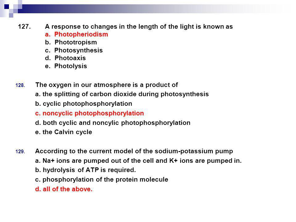 A response to changes in the length of the light is known as a