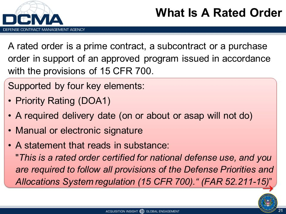 What Is A Rated Order