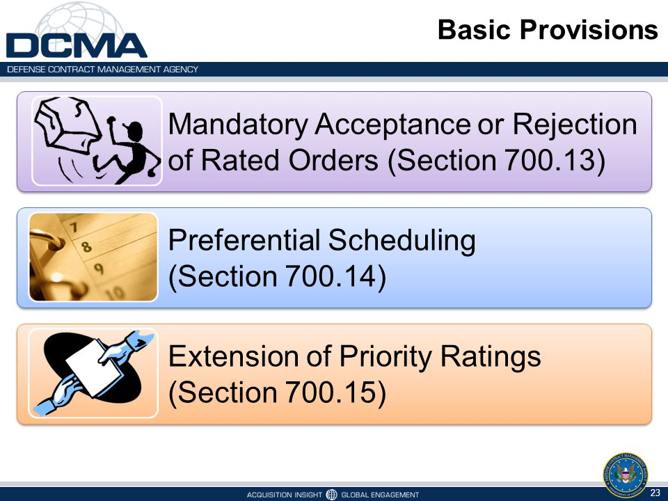 Mandatory Acceptance or Rejection of Rated Orders (Section 700.13)
