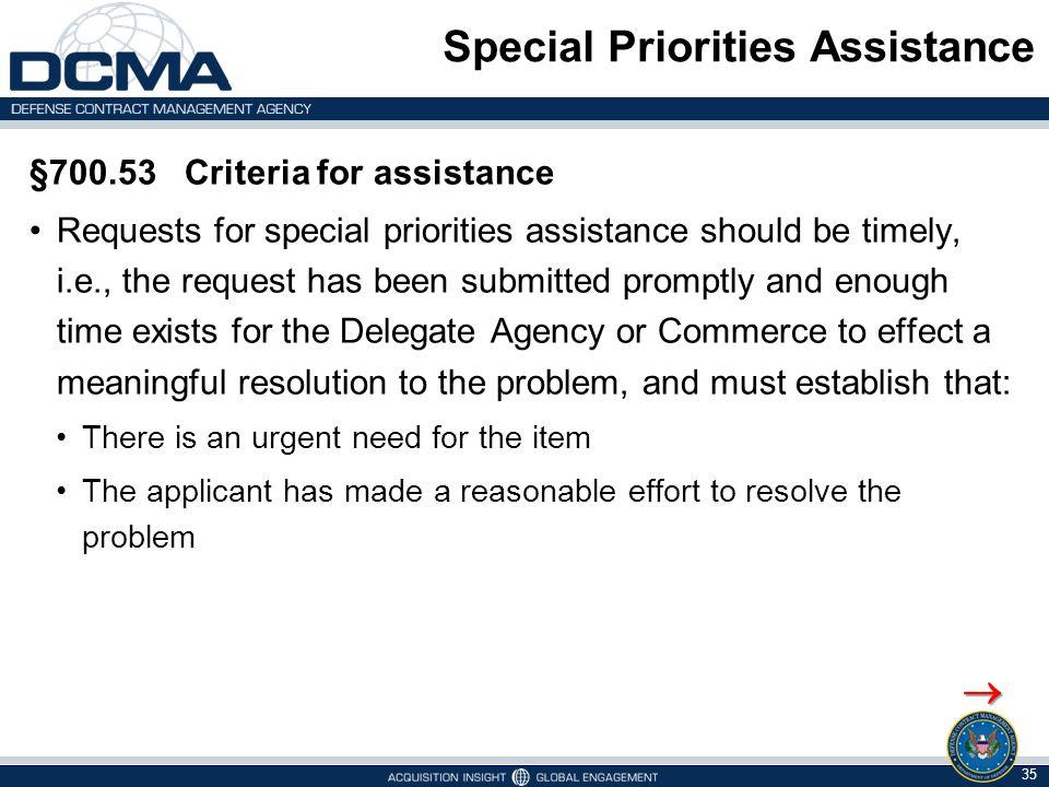 Special Priorities Assistance
