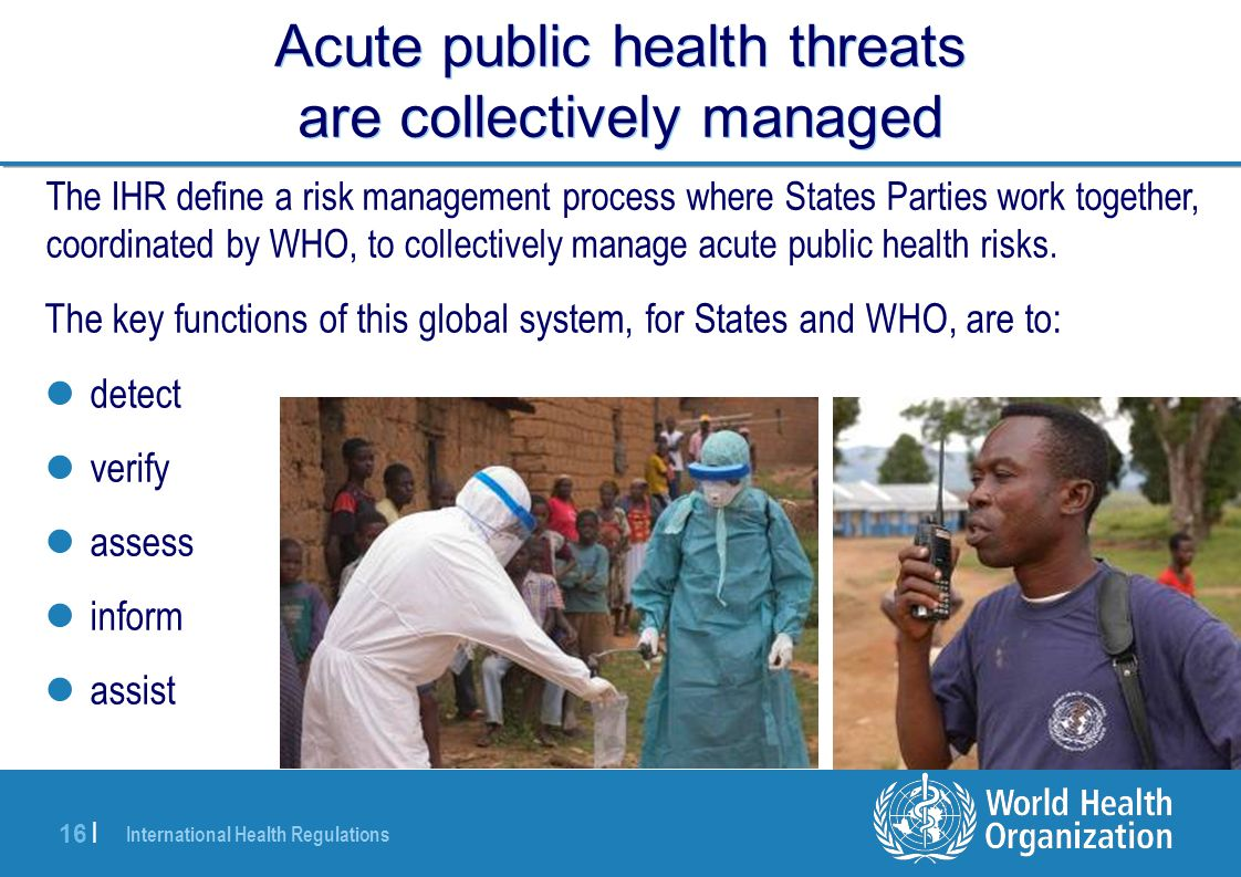Acute public health threats are collectively managed