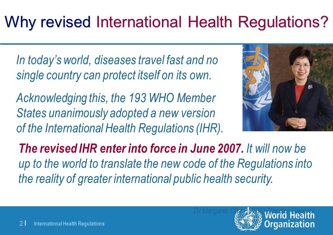 Why revised International Health Regulations