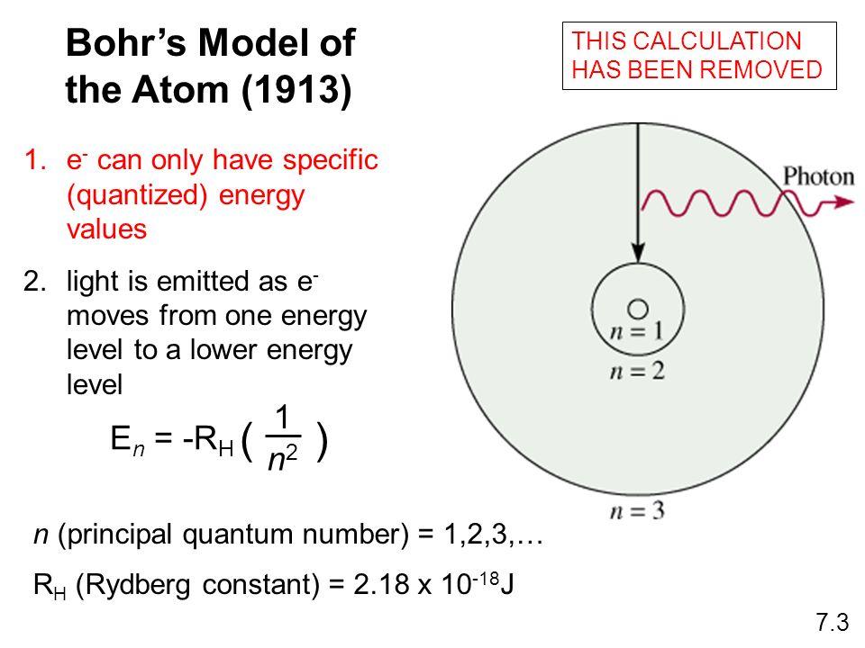 n (principal quantum number) = 1,2,3,…