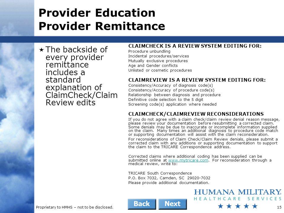 Provider Education Provider Remittance