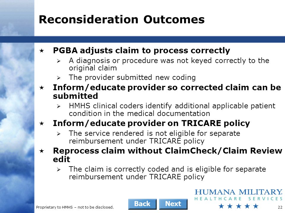 Reconsideration Outcomes