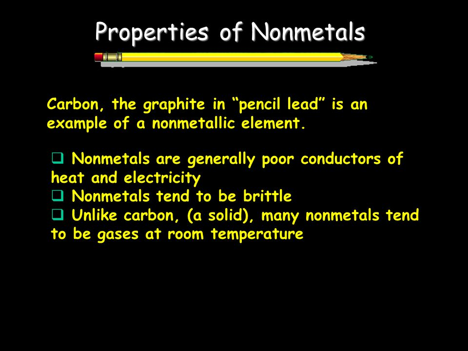 Properties of Nonmetals