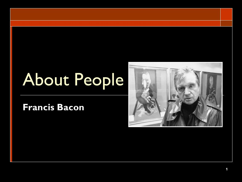 About People Francis Bacon