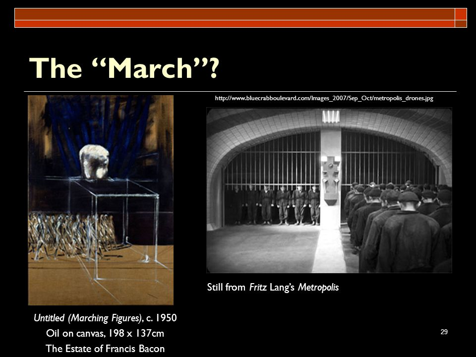 The March Still from Fritz Lang's Metropolis