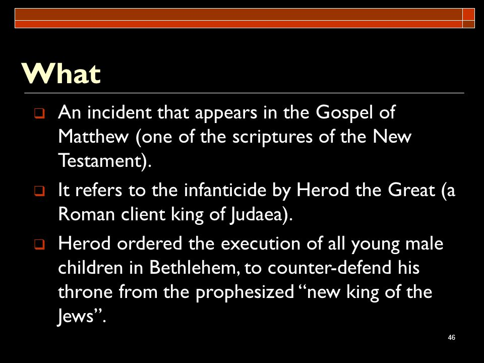 What An incident that appears in the Gospel of Matthew (one of the scriptures of the New Testament).