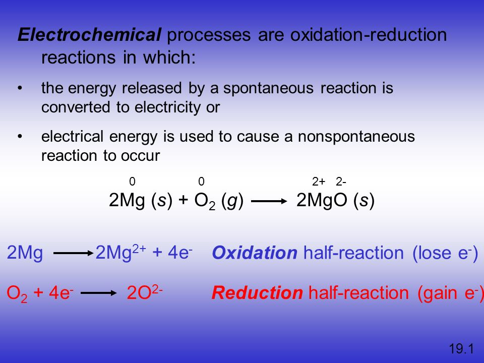 Electrochemical processes are oxidation-reduction reactions in which: