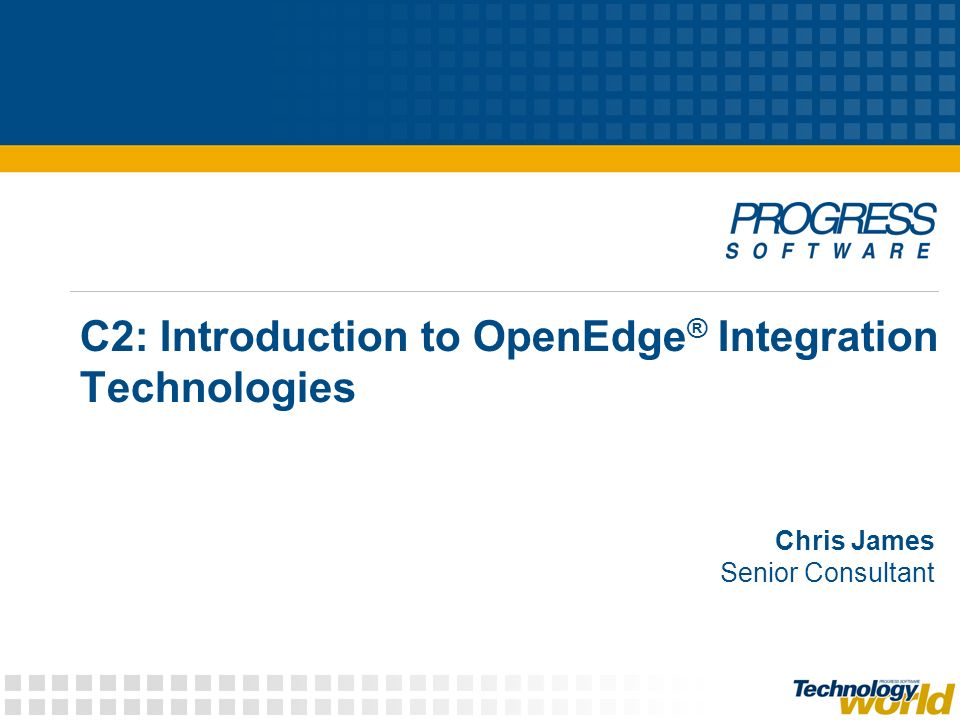 C2: Introduction to OpenEdge® Integration Technologies