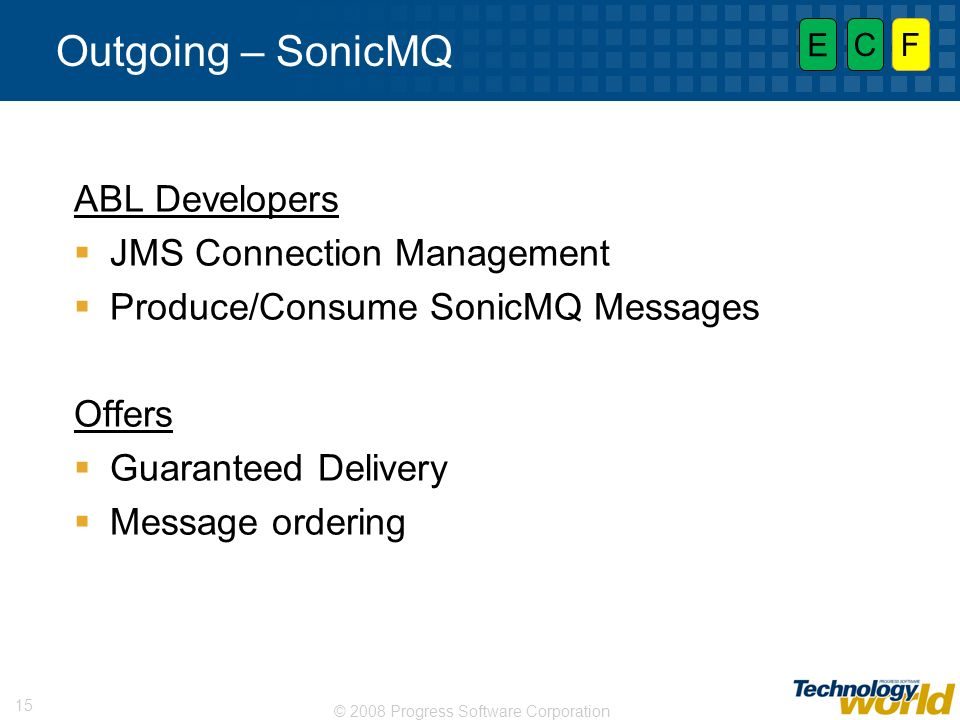 Outgoing – SonicMQ ABL Developers JMS Connection Management