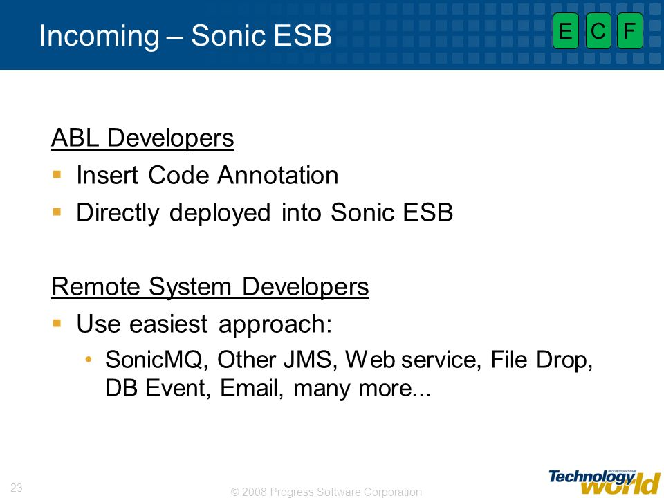 Incoming – Sonic ESB ABL Developers Insert Code Annotation