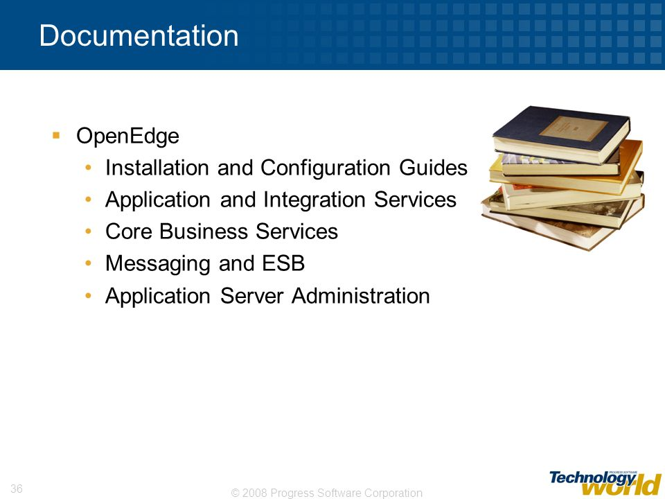 Documentation OpenEdge Installation and Configuration Guides