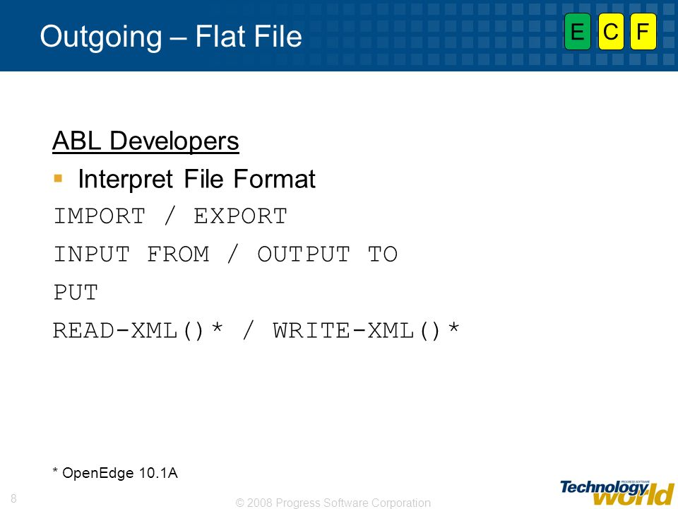 Outgoing – Flat File ABL Developers Interpret File Format