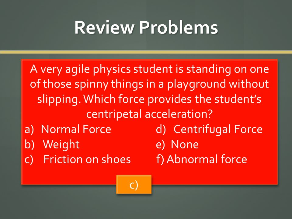 Review Problems