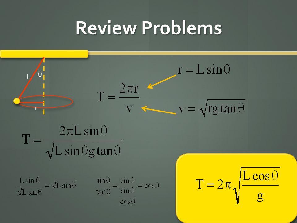 Review Problems L θ r
