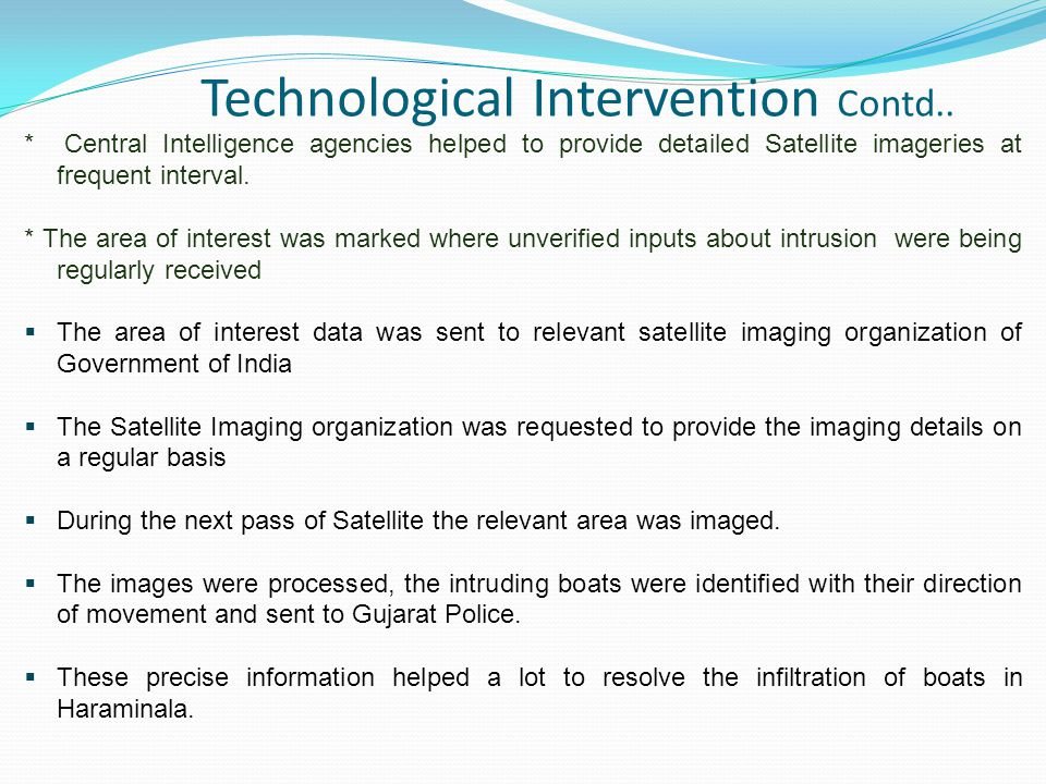 Technological Intervention Contd..