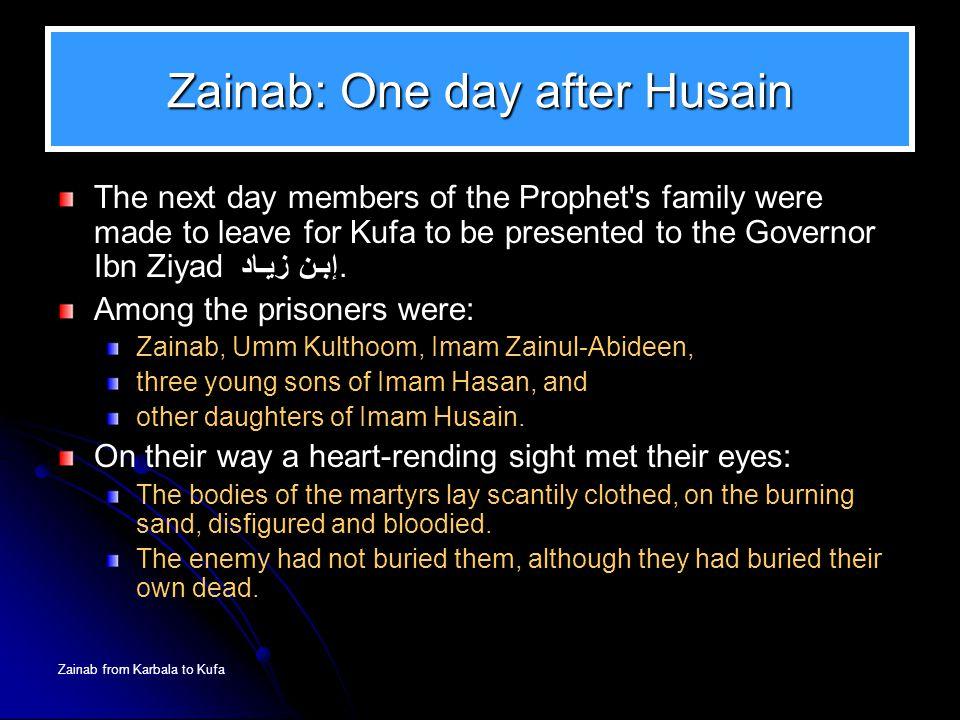 Zainab: One day after Husain