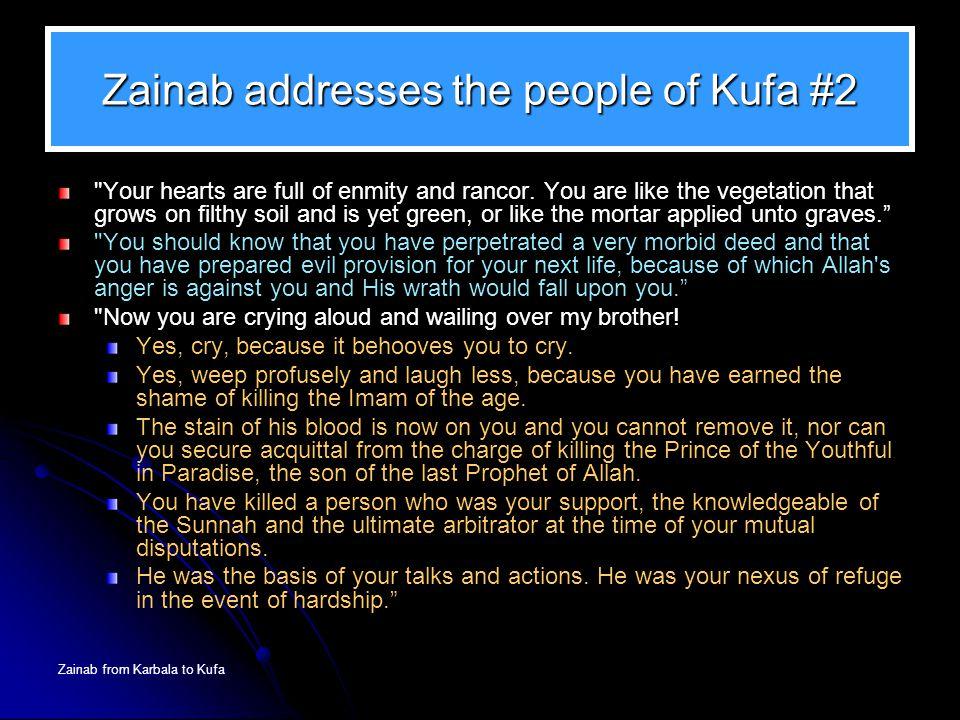 Zainab addresses the people of Kufa #2