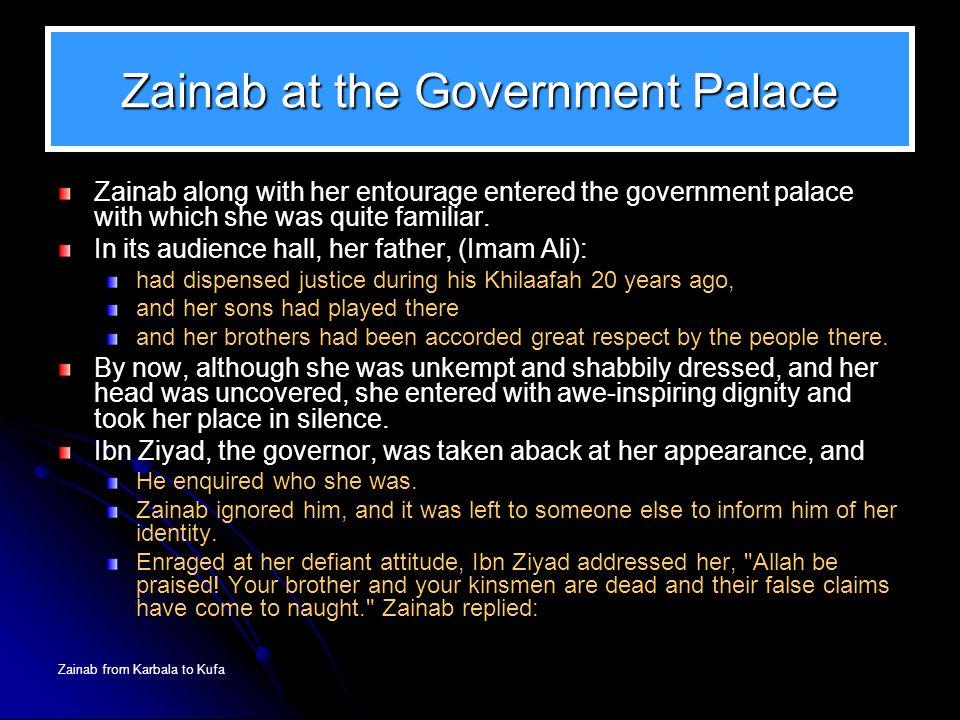 Zainab at the Government Palace
