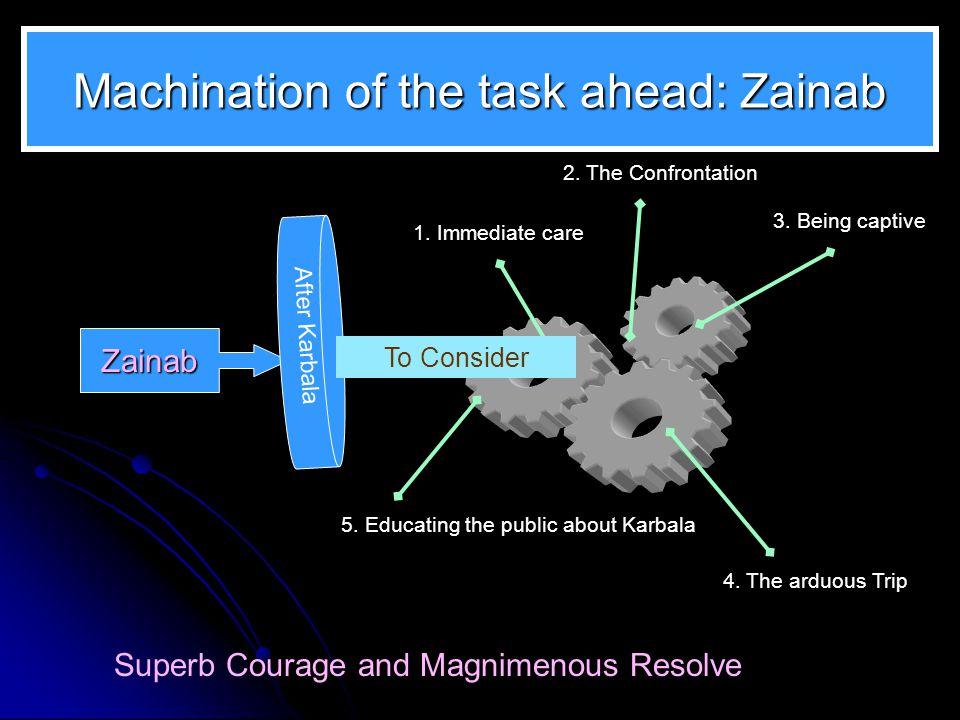 Machination of the task ahead: Zainab