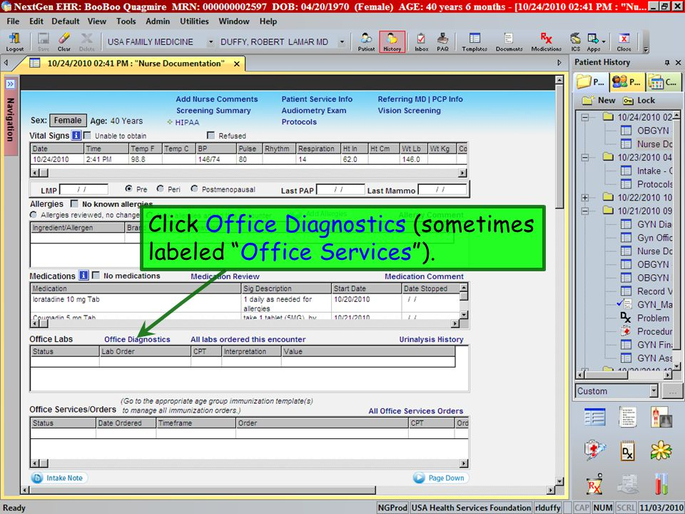 Click Office Diagnostics (sometimes labeled Office Services ).