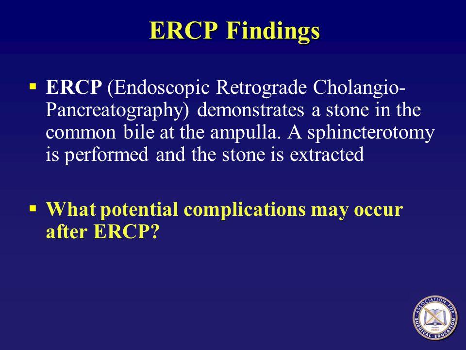 ERCP Findings