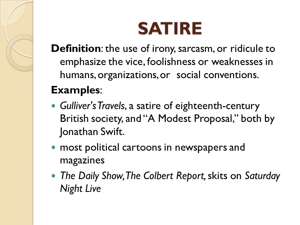 a satire literary composition Horatian and juvenalian satire essays ap english language & composition a satire is a work that is satire is a literary device found in works of.