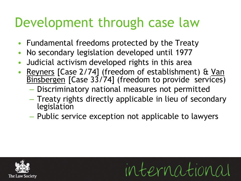 Development through case law