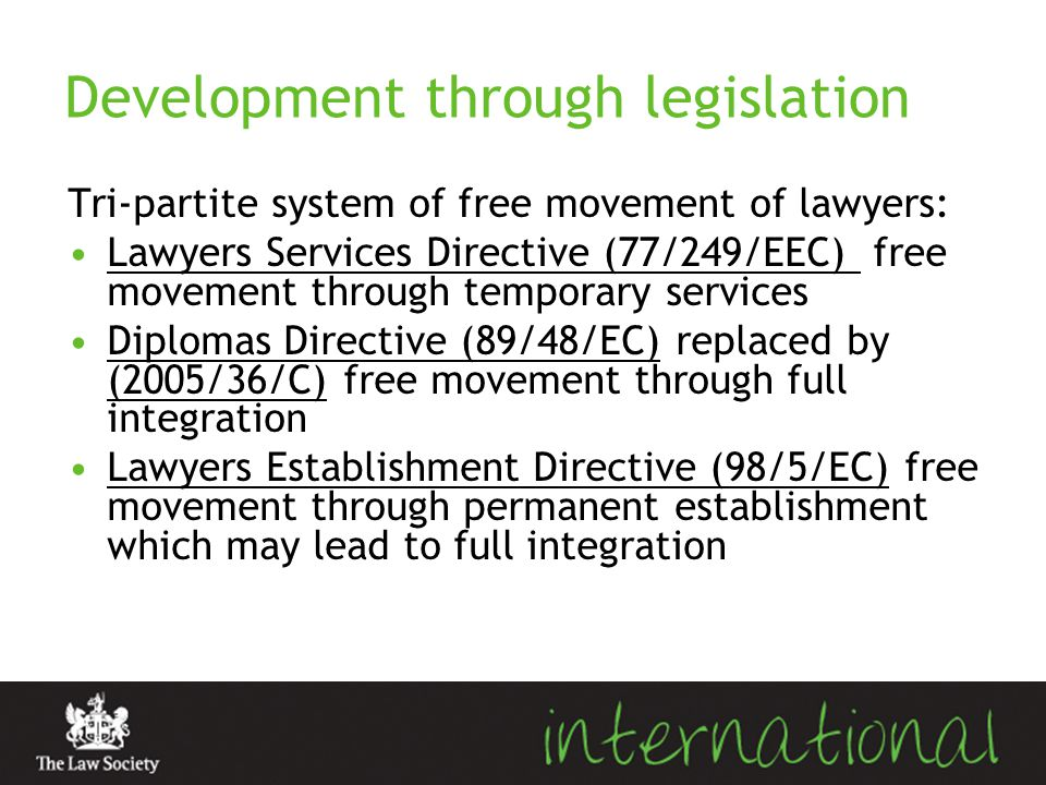 Development through legislation