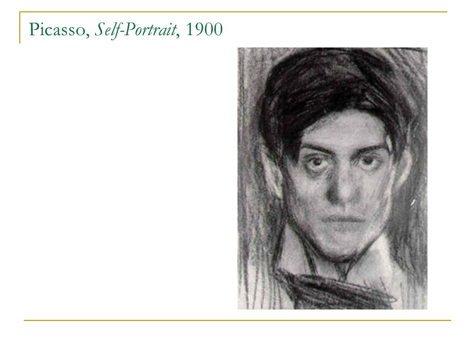 Picasso, Self-Portrait, 1900
