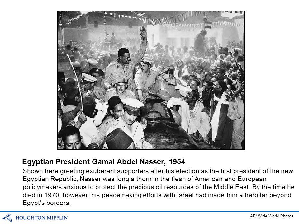 Egyptian President Gamal Abdel Nasser, 1954