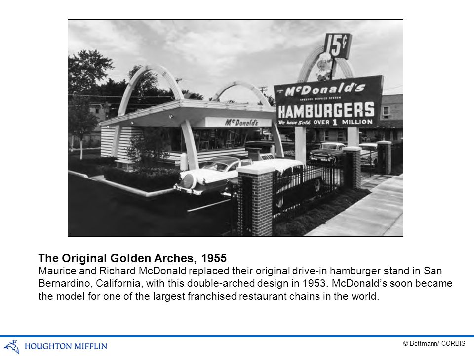 The Original Golden Arches, 1955