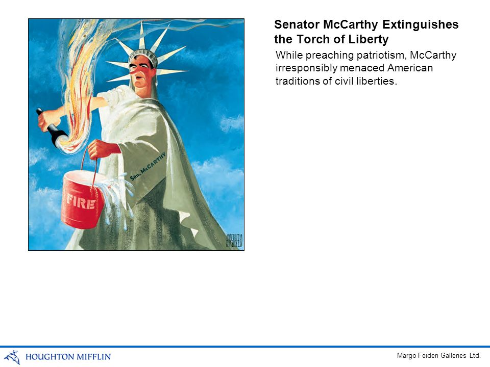 Senator McCarthy Extinguishes the Torch of Liberty