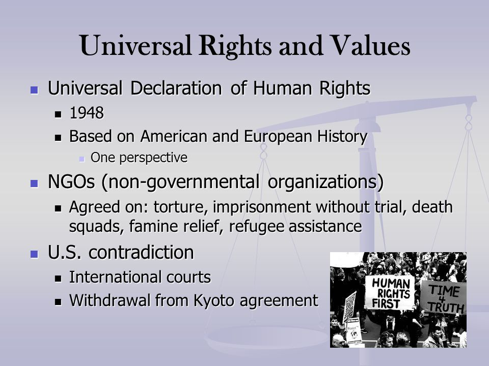 Universal Rights and Values