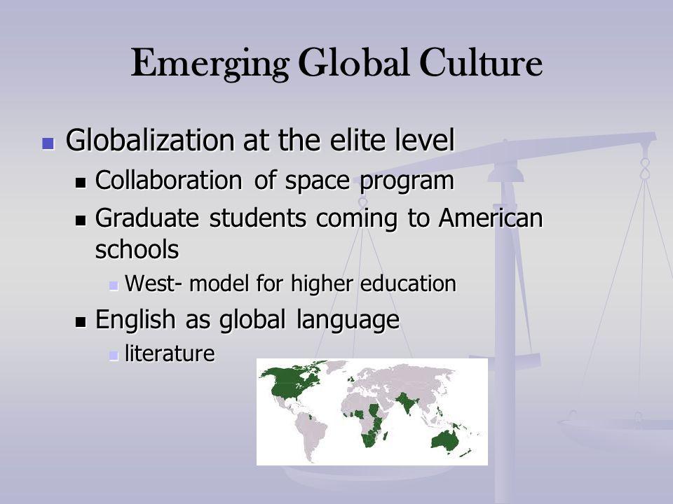 Emerging Global Culture