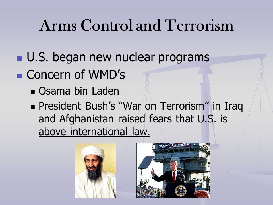Arms Control and Terrorism