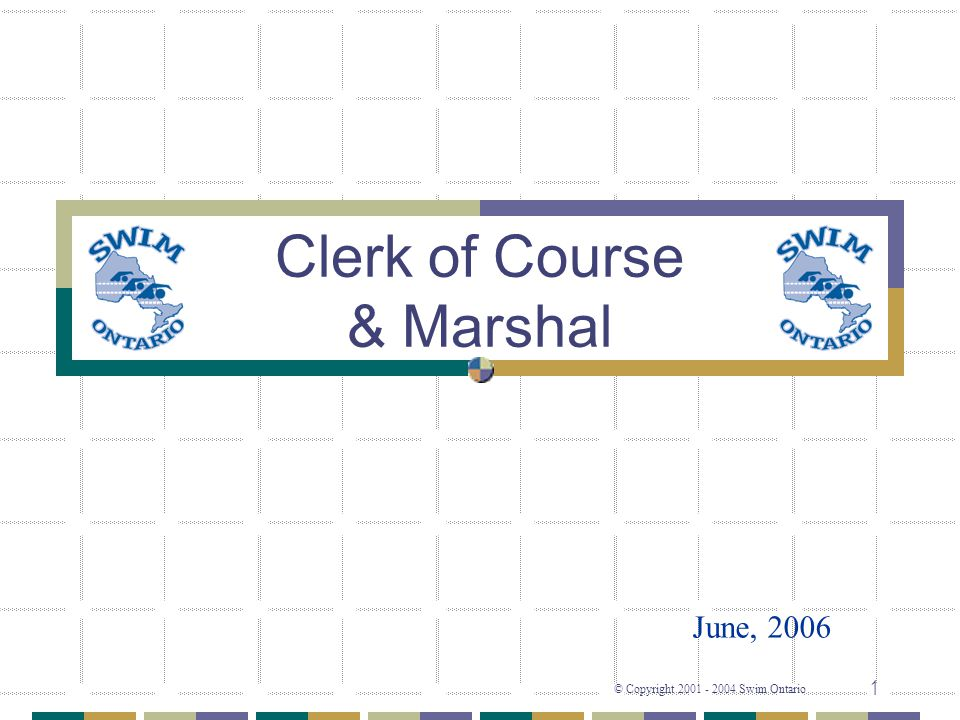 Clerk of Course & Marshal